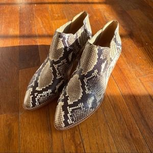 Madewell snake embossed booties new size 7